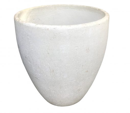 White tall planter, with narrow base