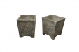 Square Art Deco Planters