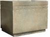 Rectangular Cement Planter with Greek Key Design