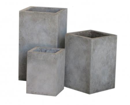 Modern Cast Concrete Upright Planter